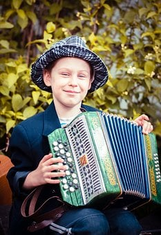 Child, Accordion Player, Baby, Boy, Childhood