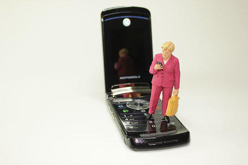 Merkel, Cdu, Politician, Opinion, Survey, Cellphone