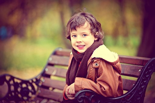 Autumn, Bench, Child In Park, Child Lavacore
