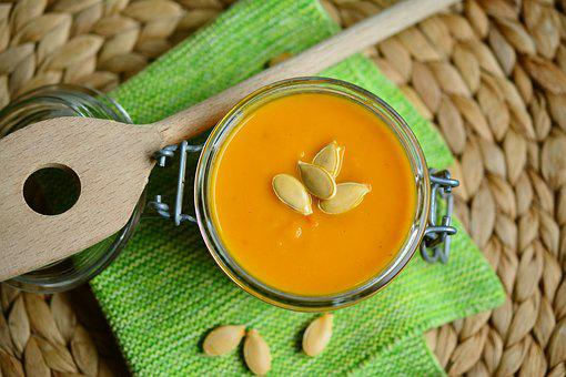 Pumpkin Soup, Soup, Cream Of Pumpkin Soup, Orange
