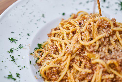 Pasta, Dough, Italian, Italy, Sauce, Plate, Table