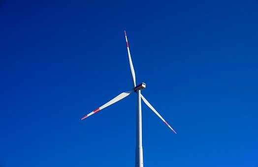 Pinwheel, Sky, Blue, Windräder, Wind Power, Energy