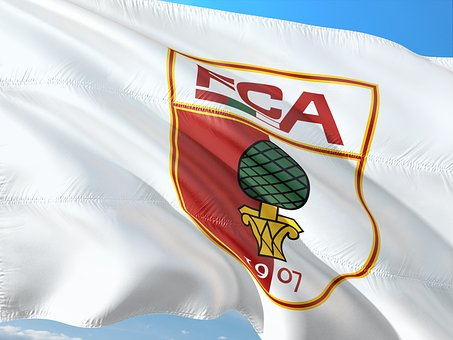 Flag, Logo, Football, Bundesliga, Fc Augsburg