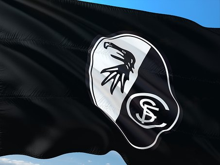 Flag, Logo, Football, Bundesliga, Sc Freiburg