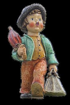 Wandersmann, Hummel Figure, Sculpture, Figure, Man