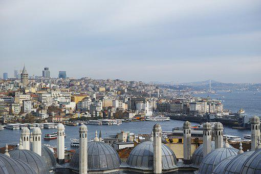 Landscape, Martyr, Istanbul, Turkey, Estuary, Galata