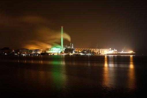 Flensburg, Port, Night Photograph, Germany, Lighting