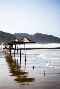 Beach, Morning, Sand, Empty