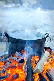 Fire, Pairs, Flame, Food, Coals, Orange, Bonfire