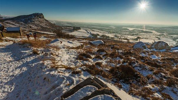 The Roaches, Peak District, Winter, Snow