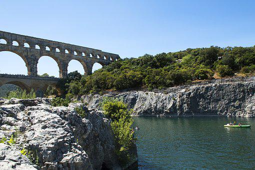 Pont Du Gard, Unesco, France, Roman Bridge, Aqueduct
