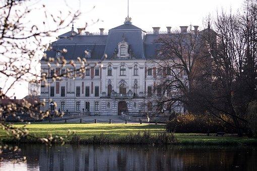 Pszczyna, Poland, The Palace, Park, Autumn