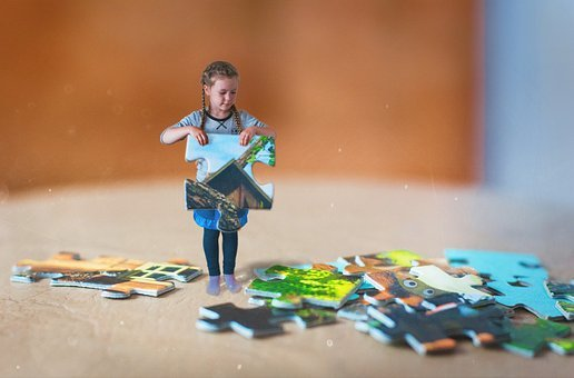 Child, Puzzles, Photo Montage, Photographing Children