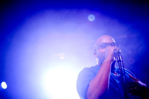 Rapper, Performing Live, Performance, Microphone, Black