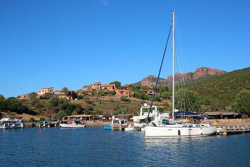 Sails, Corsica, Water, Sea, Port, Sailboat, Sailing