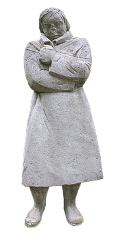 Monument, Memorial, Sculpture, Woman, Soldiers Coat
