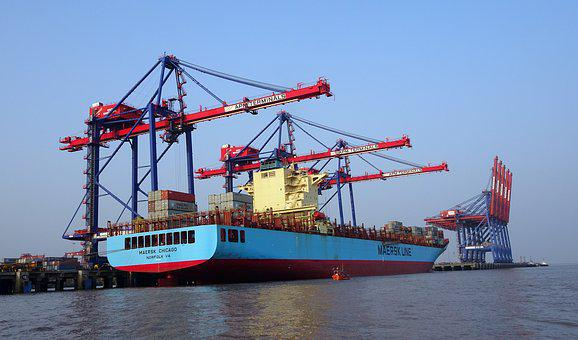Port, Sea, Pipavav, Ship, Cargo, Harbor, Transportation