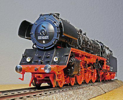Steam Locomotive, Model, Front View, Scale H0