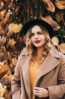 View, Hat, Girl, Model, Style, Posture, Hair