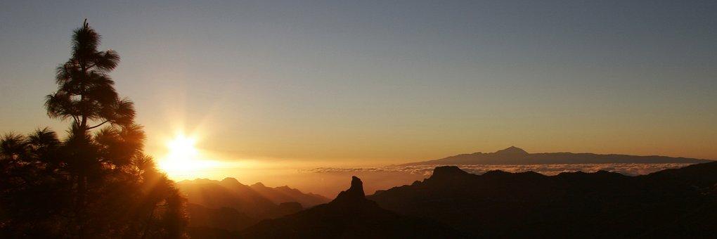 Gran Canaria, Sunset, Canary Islands, Nature, Holiday
