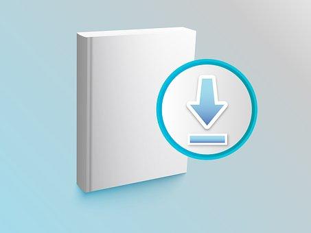 E-book, Download, Symbol, Icon, Literature, Electronic