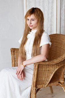 White, White Wall, Girl, Portrait, Long Hair, Classic