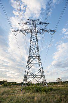 Electricity, Pole, Pylon, Wires, Cable, Line, Voltage