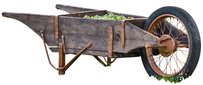 Wheelbarrow Free Old, Wood, Transport, Cart, Wheel