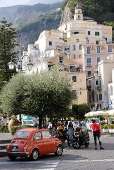 Amalfi, Italian Coast, Dolce Vita Fiat 500