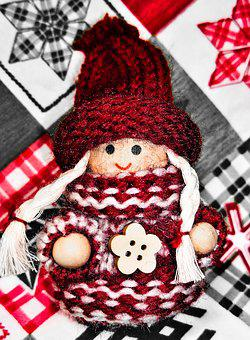 Christmas, Advent, Imp, Baby Doll, Girl, Tinkered