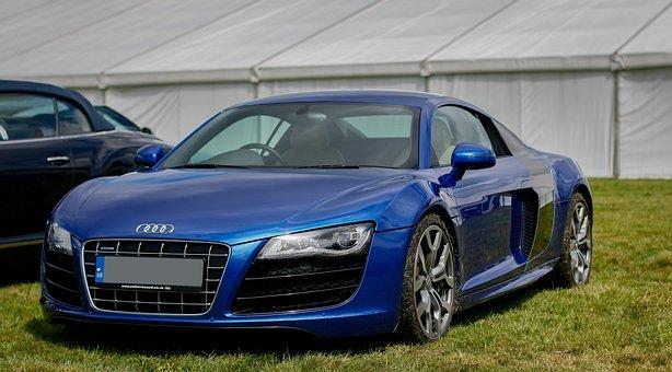 Audi R8, Audi, R8, V10, Blue, Supercar, Modern, Car