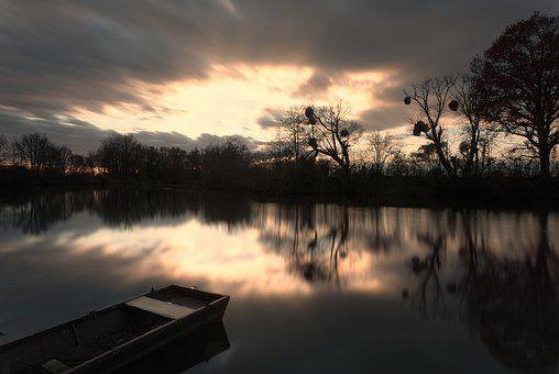 Water Surface, Mirroring, Reflection, Boot, Paddle Boat