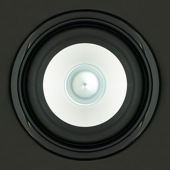 Speakers, Sound, Box, Black, White, Close, Square