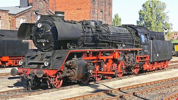 Steam Locomotive, Traditionslok, Staßfurt, Br41, Br 41