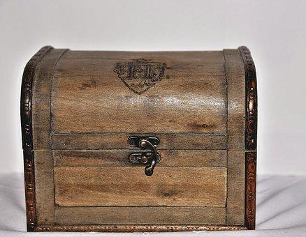 Treasure Chest, Wood, Chest, Decoration, Box, Treasure