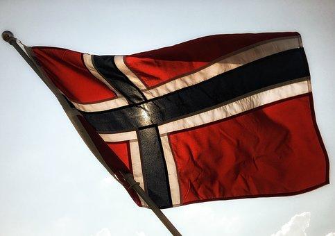 The Norwegian Flag, Flies, Flag Lever, Flag, Nordic