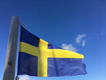 The Swedish Flag, Flies, Flag Lever, Flag, Nordic