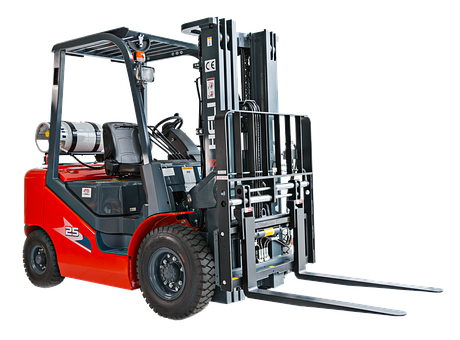 Forklift, Machinery, Machine, Construction, Warehouse