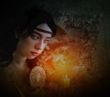 Fantasy, Gothic, Dark, Phantasmagoria, Portrait