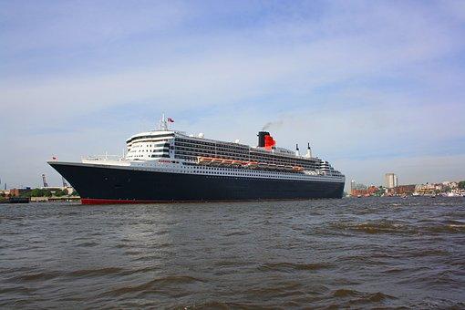 Ship, Ozeanriese, Cruise Ship, Hamburg, Large, Port