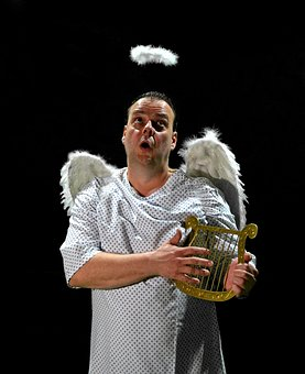 Angel, Harp, Music, Halo, Wing, Angels Singing