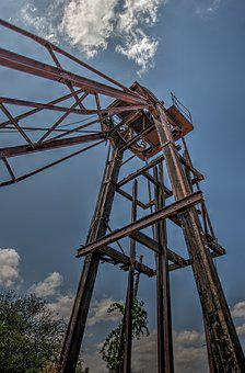 Mine, Headframe, Hdr, Industrial, Industry, Ruhr Area