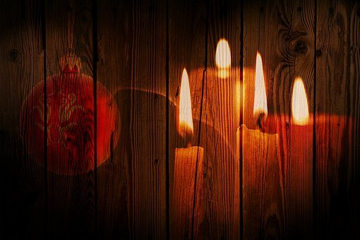 Christmas, Candles, Candlelight, Flame, Mood, Heat