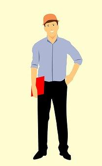 Construction Worker, Cartoon Character, Idea, Engineer