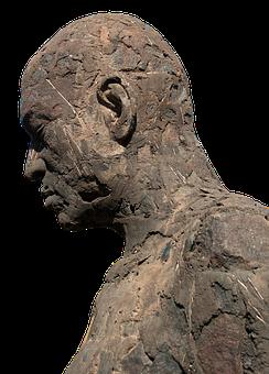 Sculpture, Statue, Man, Head, Face, Stone Sculpture