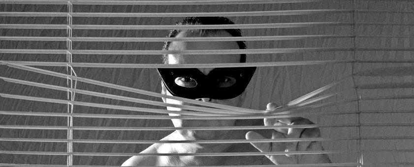 Blinds, Mask, Man, Act Of Part Of, Sexy, Roller Blind