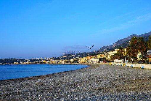 Menton, France, Water, South Of France, Mediterranean