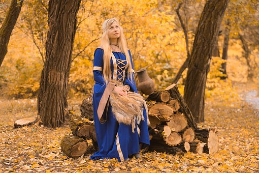 The Middle Ages, Autumn, Forest, Mysteriously, Magic