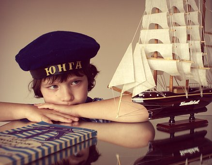 Boy, Ship, Sailor, Kids, Sea, View, Childhood, Nicely
