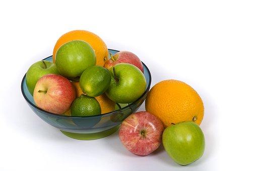 Fruit, Fruit Platter, Apple, Mat, Green, Orange, Lime